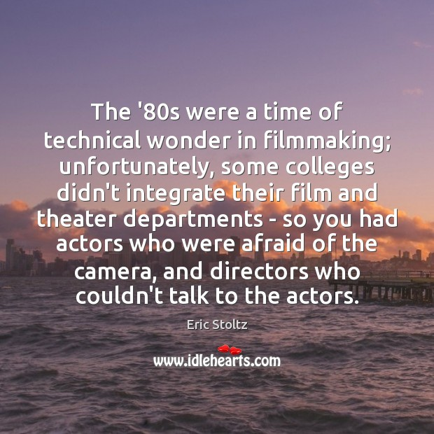 Image, The '80s were a time of technical wonder in filmmaking; unfortunately,