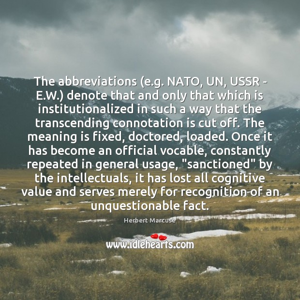 Image, The abbreviations (e.g. NATO, UN, USSR – E.W.) denote that