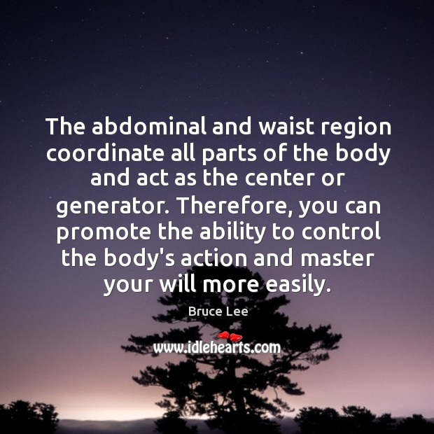 Image, The abdominal and waist region coordinate all parts of the body and
