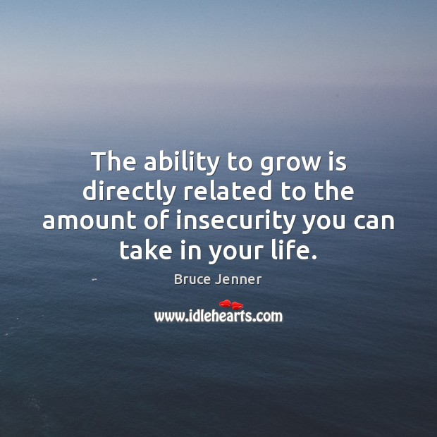 The ability to grow is directly related to the amount of insecurity Image