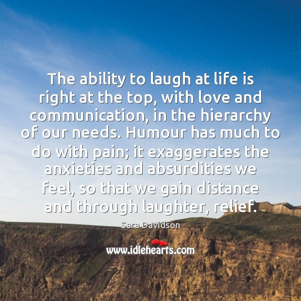 The ability to laugh at life is right at the top, with Image