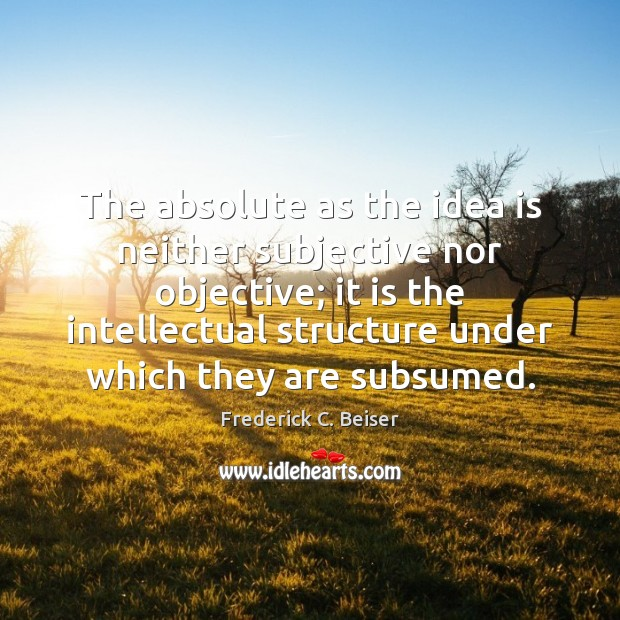 Image, The absolute as the idea is neither subjective nor objective; it is