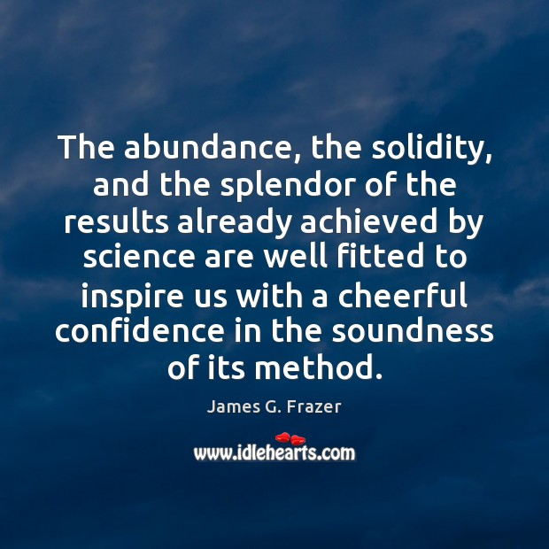 The abundance, the solidity, and the splendor of the results already achieved Image