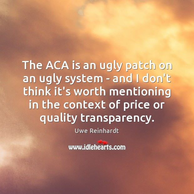 Image, The ACA is an ugly patch on an ugly system – and
