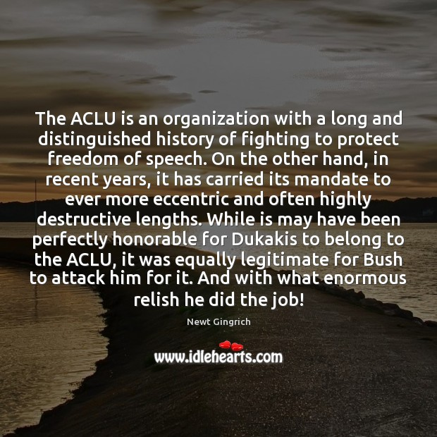 Image, The ACLU is an organization with a long and distinguished history of