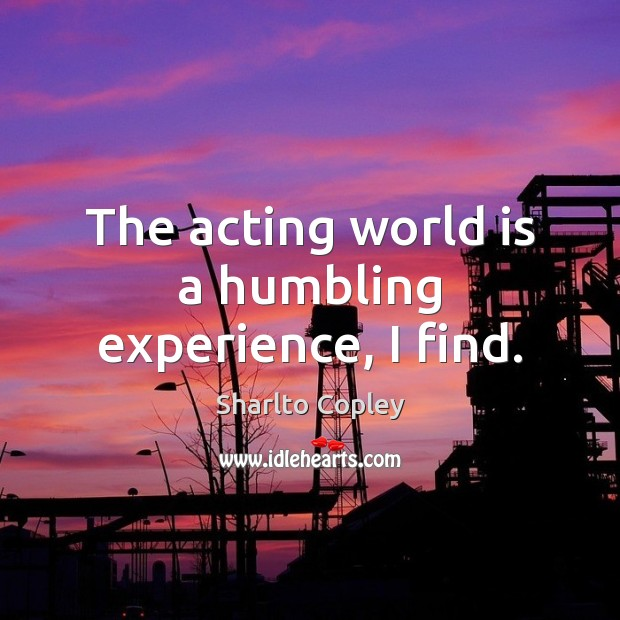 Picture Quote by Sharlto Copley