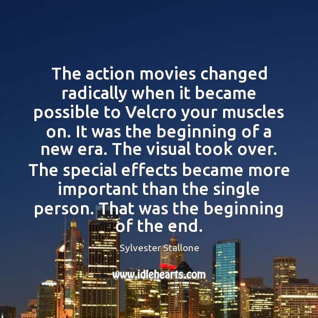 Image, The action movies changed radically when it became possible to Velcro your