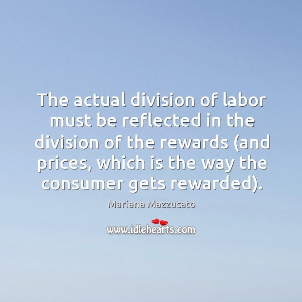 Image, The actual division of labor must be reflected in the division of