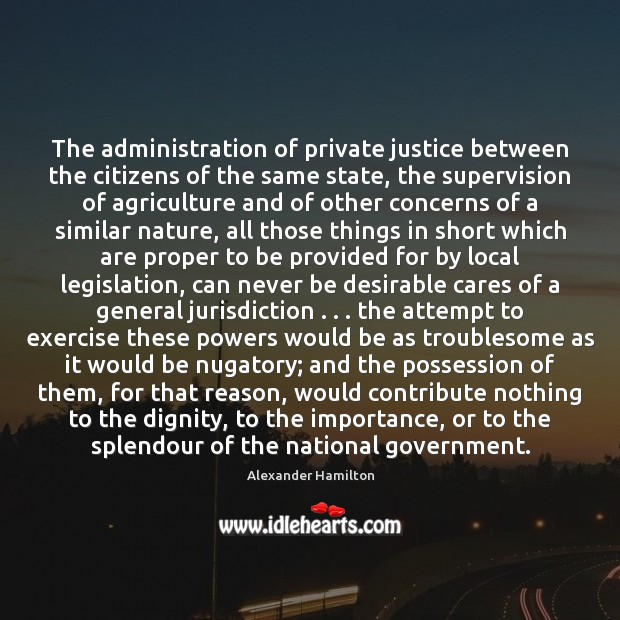 Image, The administration of private justice between the citizens of the same state,