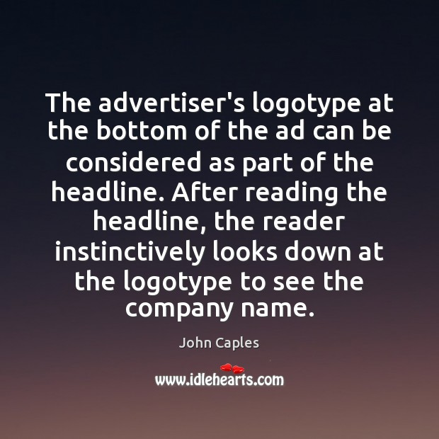 Image, The advertiser's logotype at the bottom of the ad can be considered