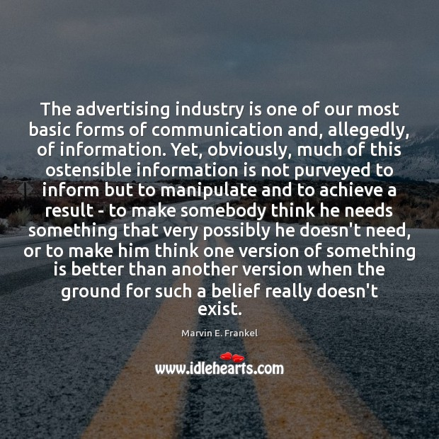 Image, The advertising industry is one of our most basic forms of communication