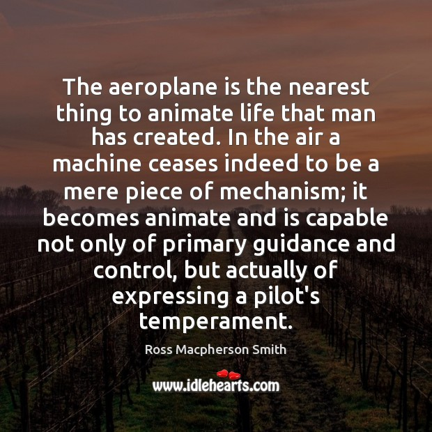 Image, The aeroplane is the nearest thing to animate life that man has