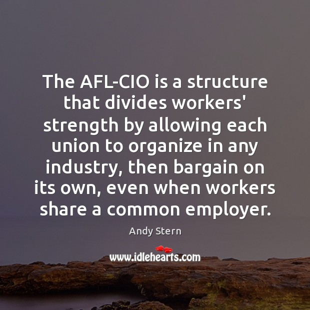Image, The AFL-CIO is a structure that divides workers' strength by allowing each