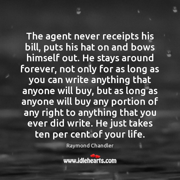 Image, The agent never receipts his bill, puts his hat on and bows