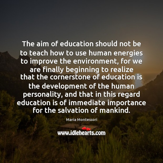 Image, The aim of education should not be to teach how to use
