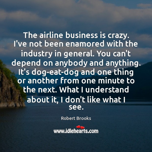 Image, The airline business is crazy. I've not been enamored with the industry