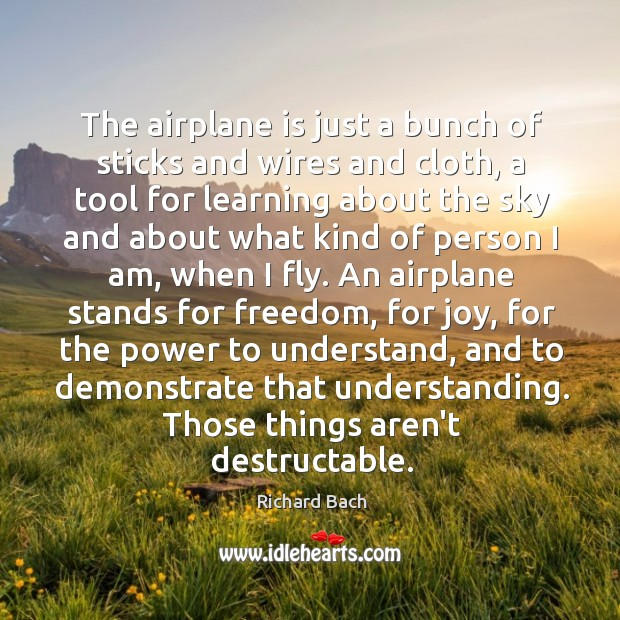 The airplane is just a bunch of sticks and wires and cloth, Image