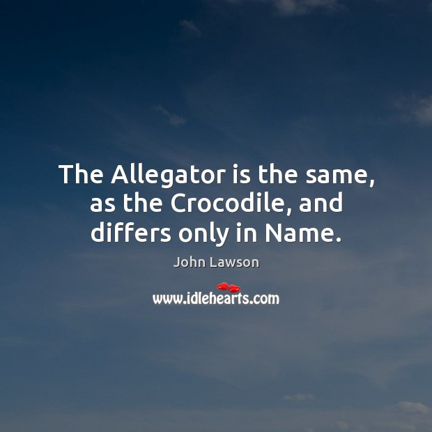 The Allegator is the same, as the Crocodile, and differs only in Name. Image