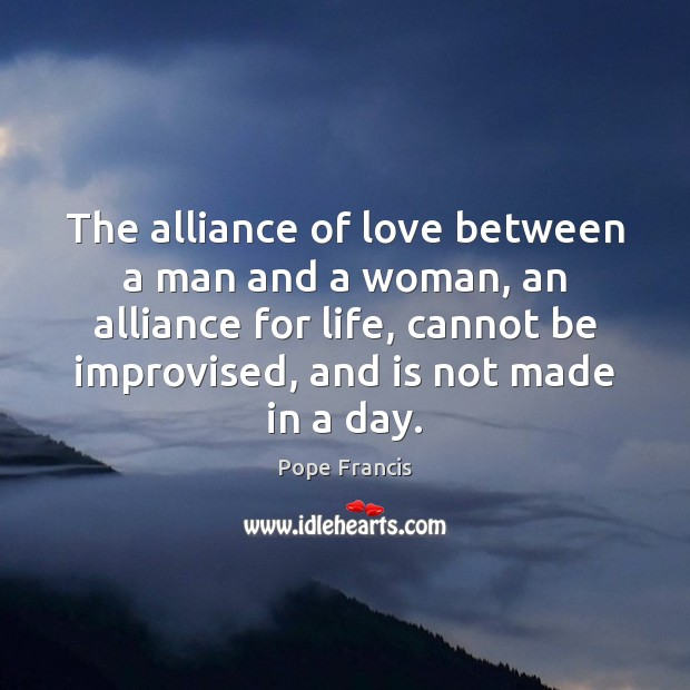The alliance of love between a man and a woman, an alliance Image