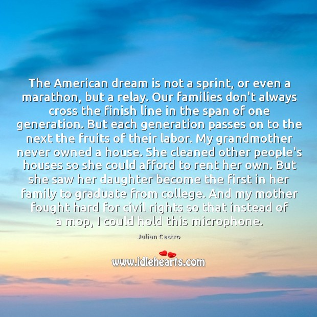 The American dream is not a sprint, or even a marathon, but Image