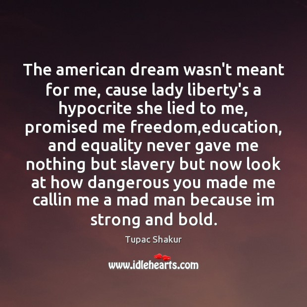 The American Dream Wasnt Meant For Me Cause Lady Libertys A Hypocrite