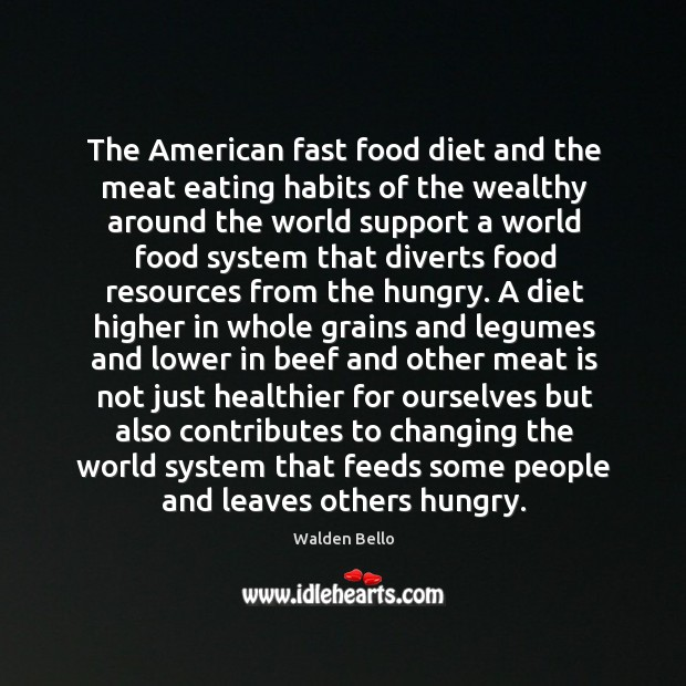 Image, The American fast food diet and the meat eating habits of the