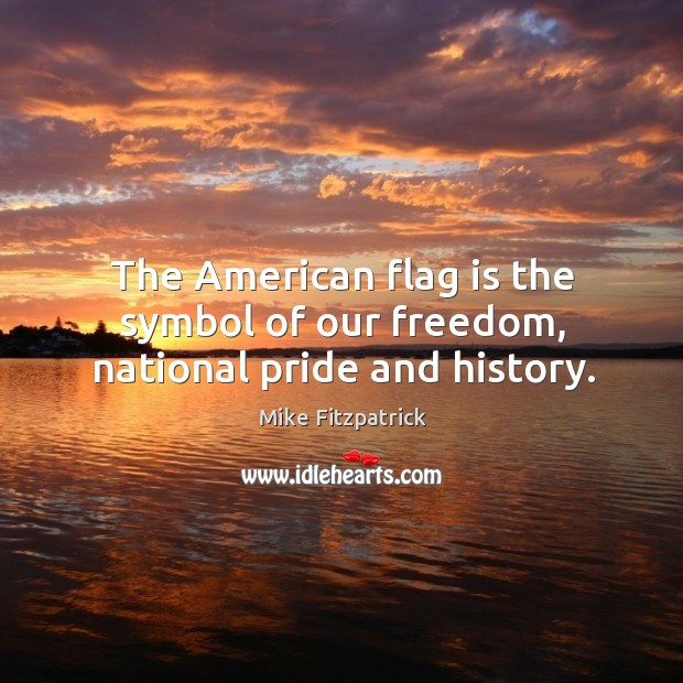 The american flag is the symbol of our freedom, national pride and history. Image