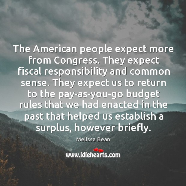 The american people expect more from congress. Image