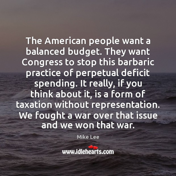 Image, The American people want a balanced budget. They want Congress to stop