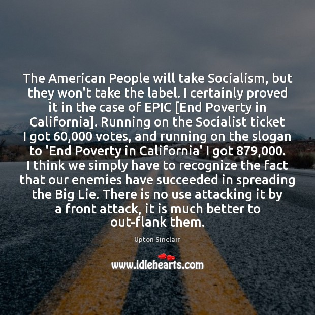 The American People will take Socialism, but they won't take the label. Image