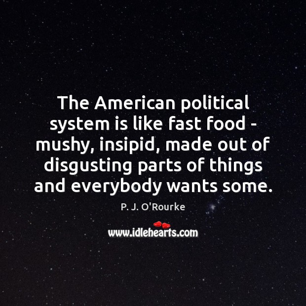 Image, The American political system is like fast food – mushy, insipid, made