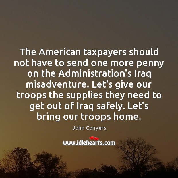 Image, The American taxpayers should not have to send one more penny on