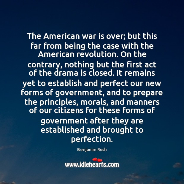 The American war is over; but this far from being the case Image