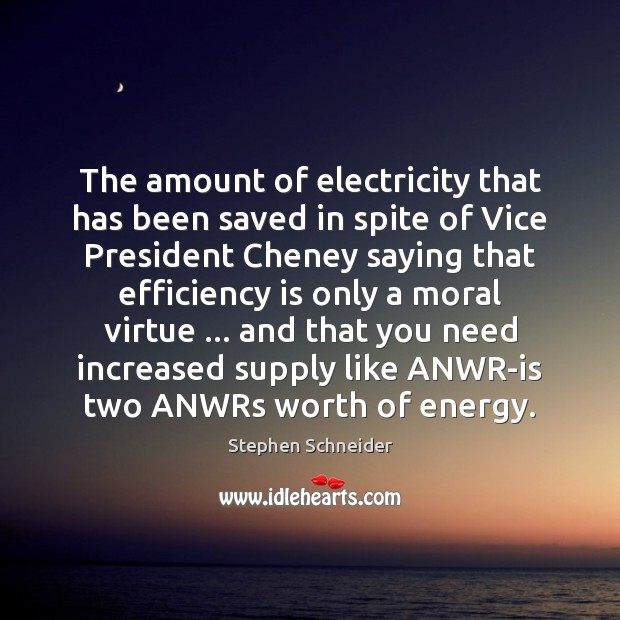 The amount of electricity that has been saved in spite of Vice Image