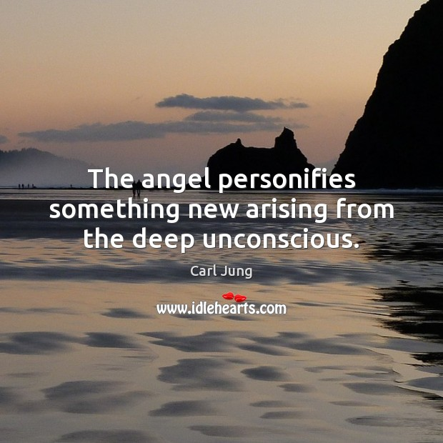 The angel personifies something new arising from the deep unconscious. Image