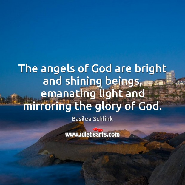 Image, The angels of God are bright and shining beings, emanating light and