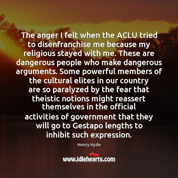 Image, The anger I felt when the ACLU tried to disenfranchise me because
