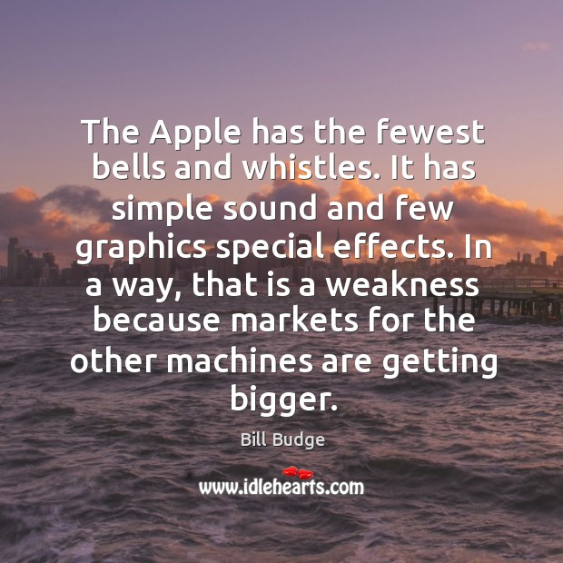 Image, The apple has the fewest bells and whistles. It has simple sound and few graphics