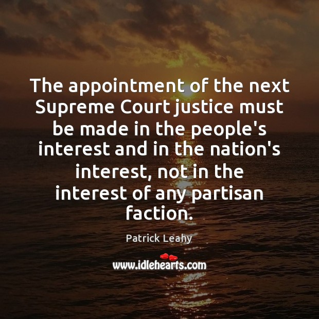 Image, The appointment of the next Supreme Court justice must be made in