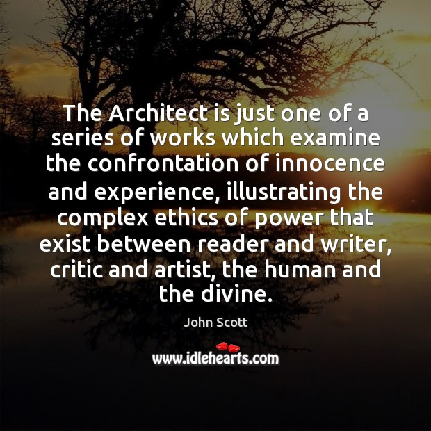 The Architect is just one of a series of works which examine Image