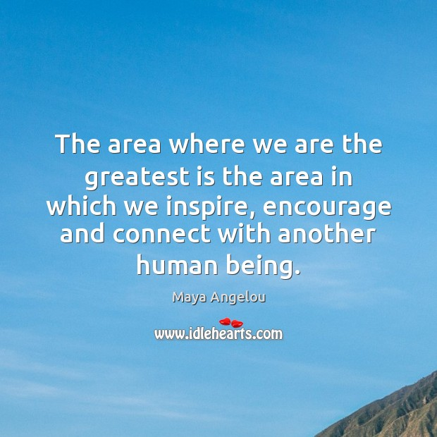 The area where we are the greatest is the area in which Image