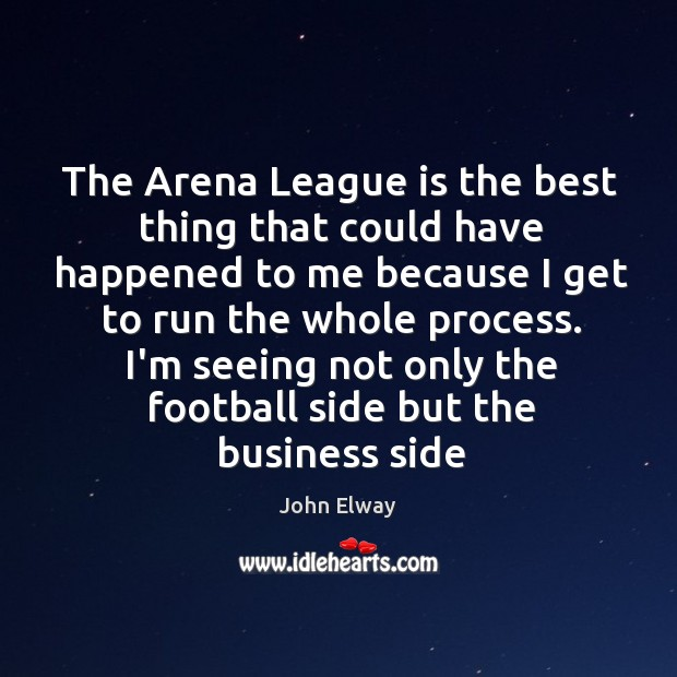 Image, The Arena League is the best thing that could have happened to