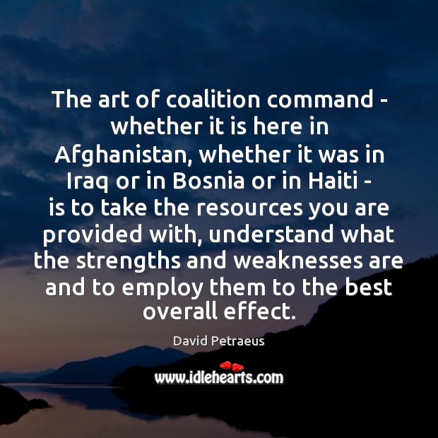 The art of coalition command – whether it is here in Afghanistan, Image