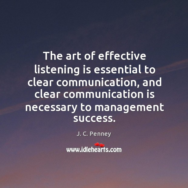 The art of effective listening is essential to clear communication Image