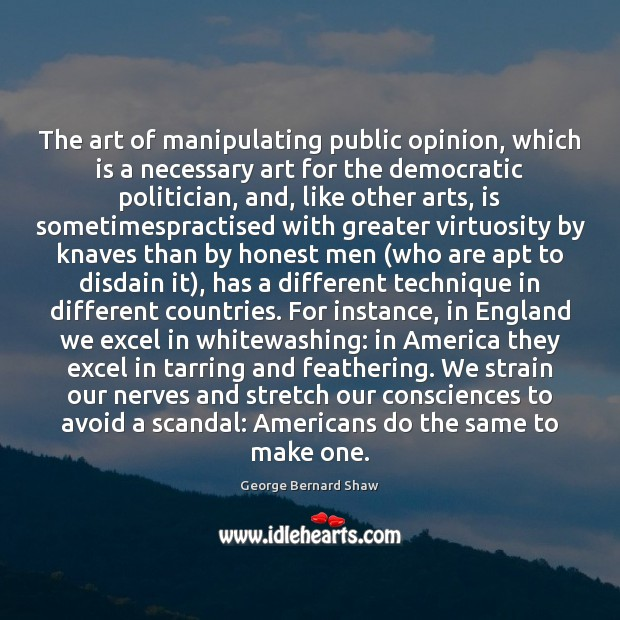 The art of manipulating public opinion, which is a necessary art for Image