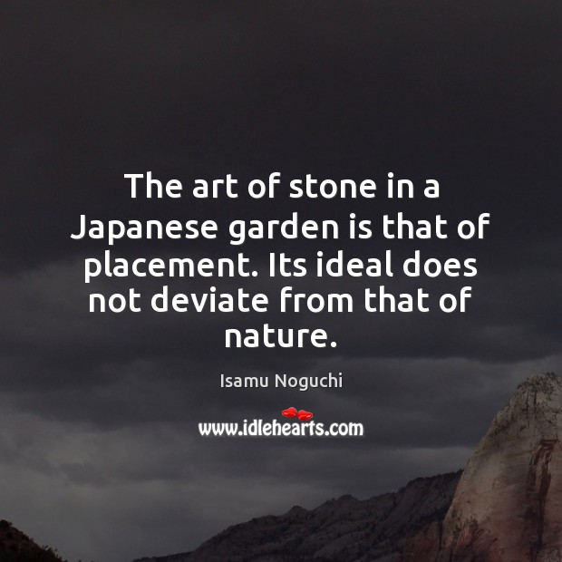 The art of stone in a Japanese garden is that of placement. Image