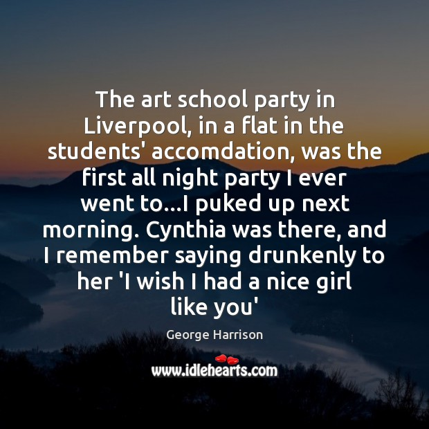 The art school party in Liverpool, in a flat in the students' Image