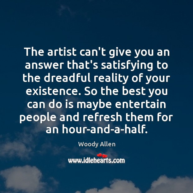 The artist can't give you an answer that's satisfying to the dreadful Image