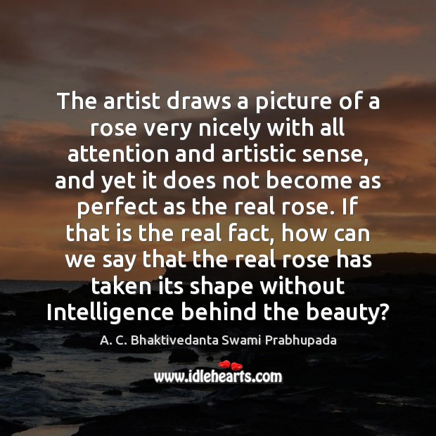 Image, The artist draws a picture of a rose very nicely with all