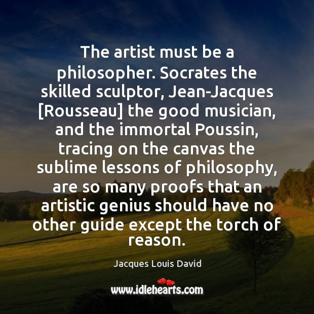 Image, The artist must be a philosopher. Socrates the skilled sculptor, Jean-Jacques [Rousseau]